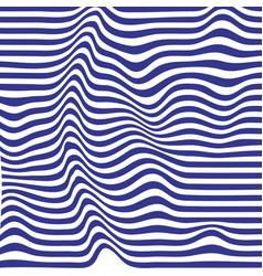 blue striped backdrop zebra top distortion wave vector image