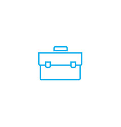 briefcase linear icon concept briefcase line vector image