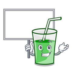 bring board green smoothie character cartoon vector image