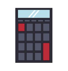 Calculator business finance mathematics cartoon vector