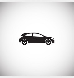 car simple on white background vector image
