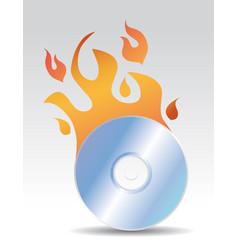 cd burning vector image