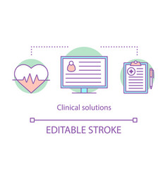 Clinical solutions concept icon vector