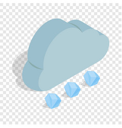 Cloud and hail isometric icon vector
