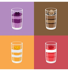 Colorful Mousses vector