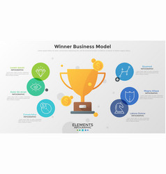 Concept of winner business model vector