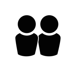 Couple teamwork symbol vector