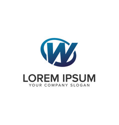 creative modern letter w logo design concept vector image