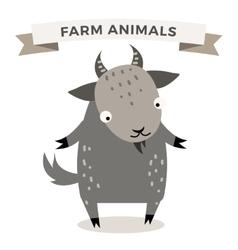 Cute cartoon goat vector