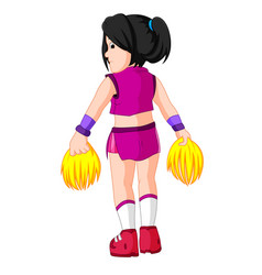 cute cheerleader cartoon vector image