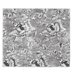 damask fabric is a figured pattern using a vector image