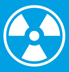 Danger nuclear icon white vector