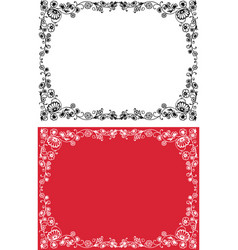Decorative frames from outlines twigs with vector