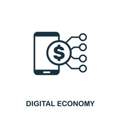 digital economy icon creative element design from vector image