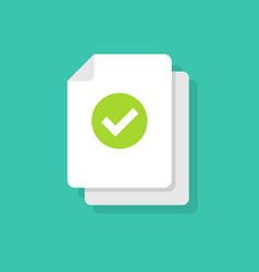 document and checkmark icon concept or vector image