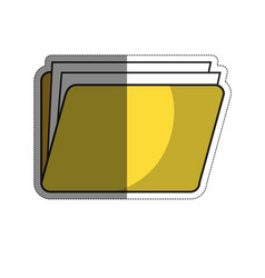 Documents folder icon vector