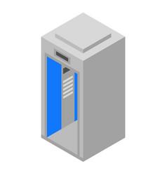 Elevator lift icon isometric style vector
