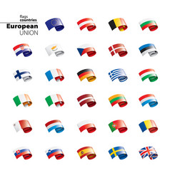 flags of the european union vector image