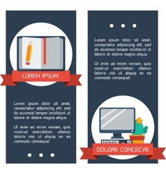 Flat infographic education banners vector