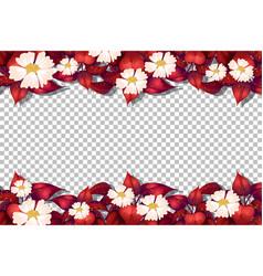 Flower frame template on transparent background vector