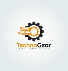 Gear logo design vector