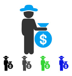 Gentleman investor flat icon vector