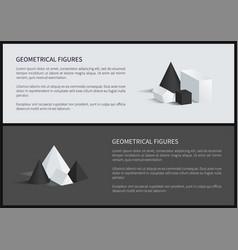 geometrical figure text sample vector image