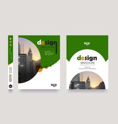 green poster flyer pamphlet brochure cover design vector image