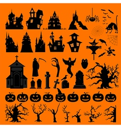 halloween holiday constructor graphic template vector image