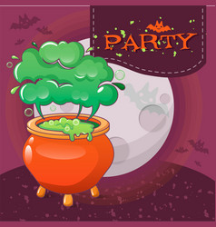 halloween party concept background cartoon style vector image