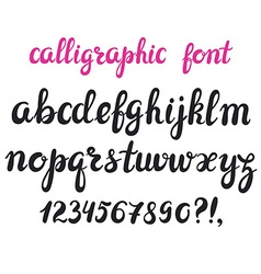 Hand drawn brush pen calligraphy cursive font vector