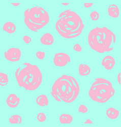 hand drawn pattern with pink round elements vector image