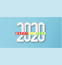 Happy new year 2020 year rat template vector