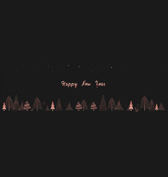 happy new year winter forest christmas trees vector image