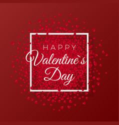 happy valentines day and weeding romantic design vector image