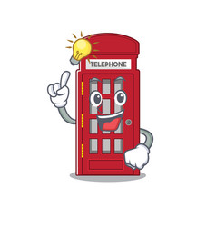 Have an idea telephone booth isolated with the vector