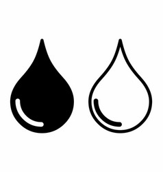 icons of drops vector image