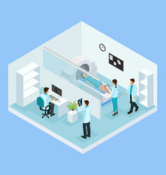isometric mri diagnostic process concept vector image