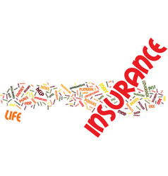 life insurance apprehensive about insurance vector image