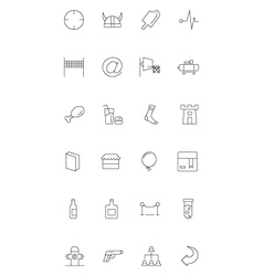 Line icons 17 vector