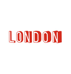 London text with 3d isometric effect vector