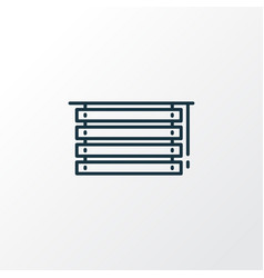 louvers icon line symbol premium quality isolated vector image