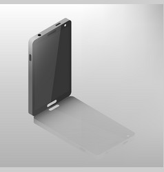 mobile phone isometric vector image vector image