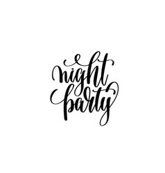 night party hand lettering halloween holiday vector image