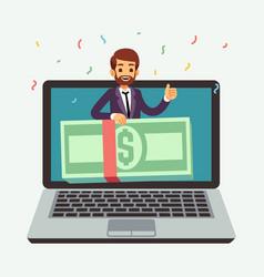 Online money prize lottery reward internet award vector