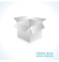 open box element store shipping object vector image