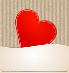 Paper Heart background vector image