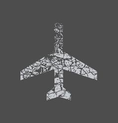 Plan sign travel concept vector