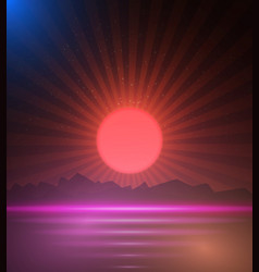 Retro Music Poster Cover vector image