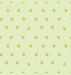 Seamless pattern with cute crowns simple vector
